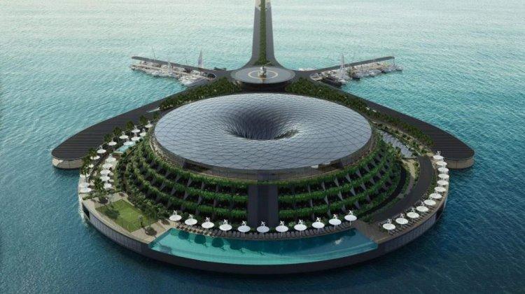 Un hotel plutitor, care se învârte în mare, va fi construit în Qatar