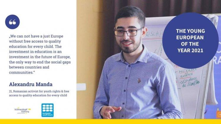 Constănțeanul Constantin-Alexandru Manda, desemnat Tânărul European al Anului 2021