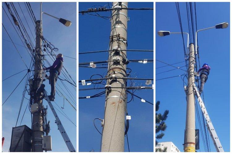 Primăria Constanța a cerut operatorilor de comunicații să înceapă etichetarea și cosmetizarea cablurilor din oraș
