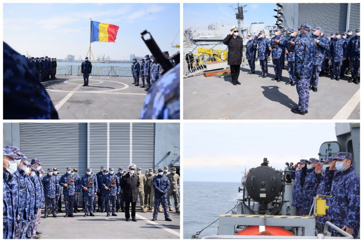 Fregata Regina Maria a revenit în portul militar Constanța, la final de misiune NATO