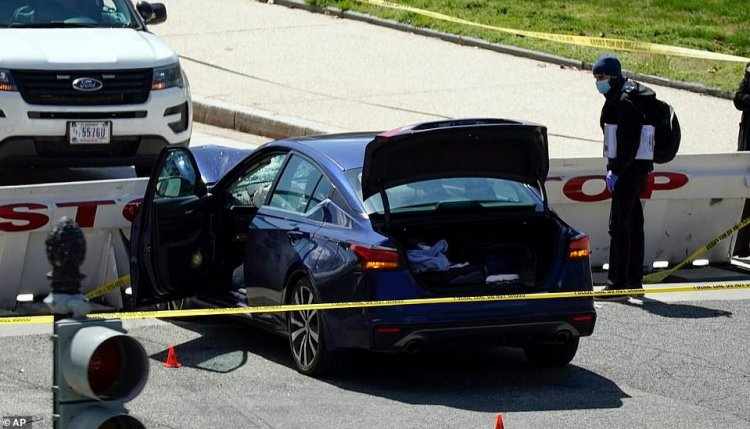 Atac la Capitoliu! Un șofer a intrat cu un autovehicul în doi ofițeri de poliție. Suspectul a murit