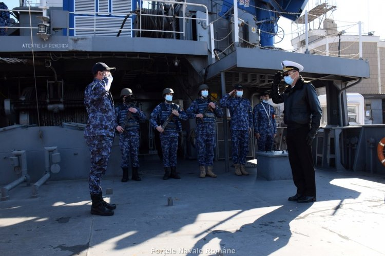 Nava hidrografică Căpitan-comandor Alexandru Cătuneanu, a raportat Misiune îndeplinită!