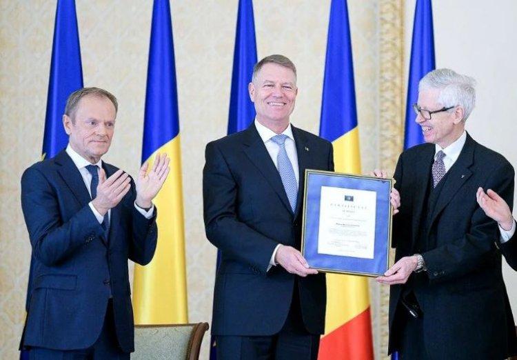 Preşedintele Klaus Iohannis a primit premiul european Coudenhove-Kalergi