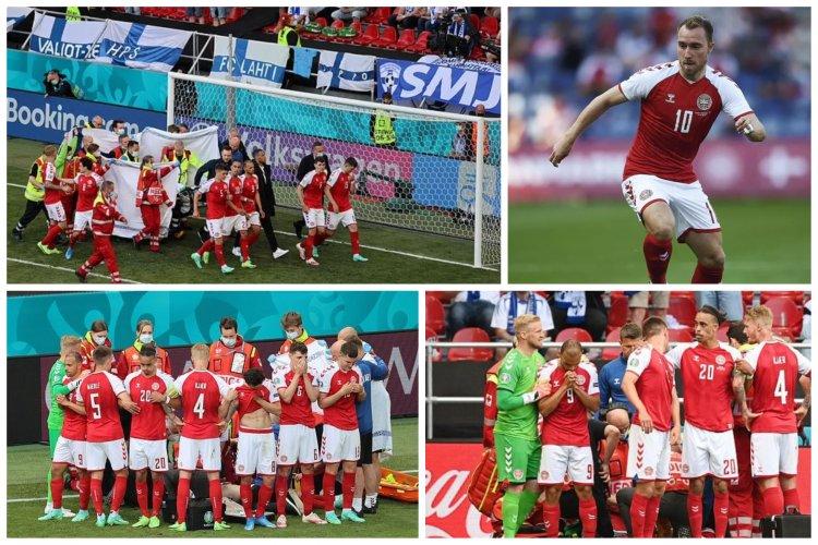 Momente dramatice la Euro 2020. Jucător prăbușit pe tern. UEFA a amânat jocul