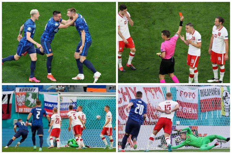 Slovacia, victorioasă în faţa Poloniei cu 2-1. Hațegan a arătat primul cartonaș roșu de la Euro 2020