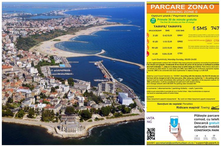 Începând de astăzi începe tarifarea locurilor de parcare din municipiul Constanța