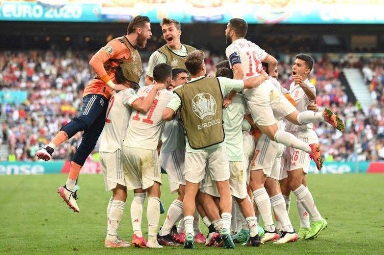 Spania, a cincea echipă din sferturile Euro 2020 după un meci spectaculos cu Croația