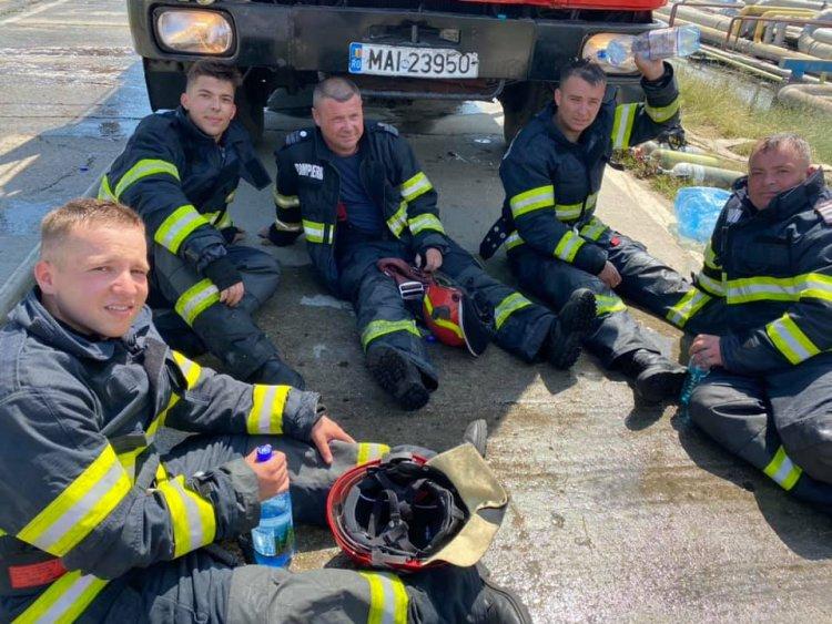 FOTO Eroii care au stins flăcările incendiului de la Petromidia Năvodari