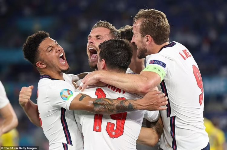 EURO 2020: Ucraina - Anglia 0-4. Englezii fac spectacol şi se califică în semifinalele turneului final