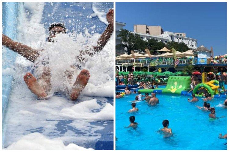 Spumă pe tobogane, concursuri și multă adrenalină, la Eforie Aqua Park