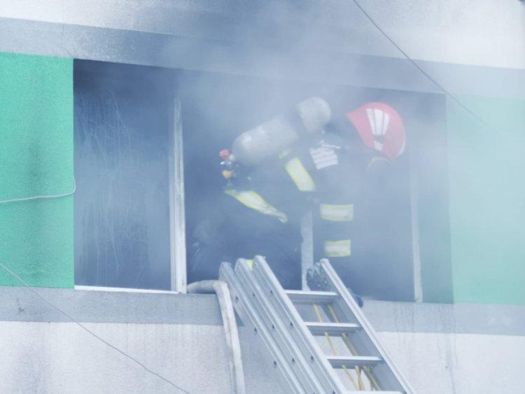VIDEO - Incendiu la Spitalul de Boli Infecțioase din Constanța